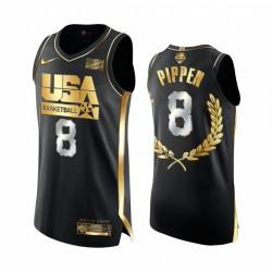 Scottie Pippen 1992 Dream Team Glory Golden Limited Edition Schwarz Trikot Authentic