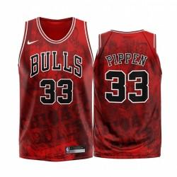 Chicago Bulls Scottie Pippen & 33 Rot 2020 Mode Edition Trikot