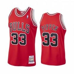 Scottie Pippen & 33 Chicago Bulls Rot Hardwood Classics Trikot