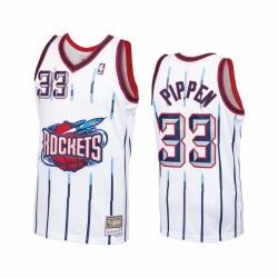 Scottie Pippen Houston Raketen Weiß Trikot Hardwood Classics
