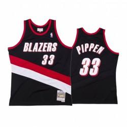 Portland Trail Blazer Scottie Pippen & 33 Schwarz Throwback Trikot