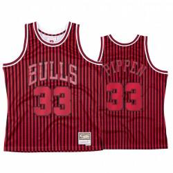 Scottie Pippen & 33 Chicago Bulls Rotstars und Streifen Trikot