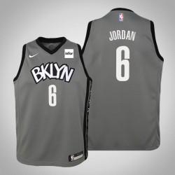 Jugend DeAndre Jordan Brooklyn Nets & 6 Statement Grau 2020 Saison Jersey