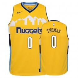 Nuggets Jugend Jeujaja Thomas & 0 Erklärung Gold Trikot