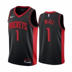 2020-21 Houston Rockets John Wall Verdiente Edition Schwarz & 1 Trikot