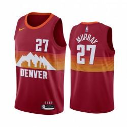 Jamal Murray Denver Nuggets 2020-21 Orange City Edition Trikot Social Recap