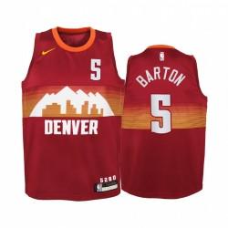 Will Barton Denver Nuggets 2020-21 Stadtrot Jugend Trikot - Neue Uniform