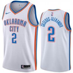 Oklahoma City Thunder Shai Gilgeous-Alexander Weiß Association Neue Uniform Trikot