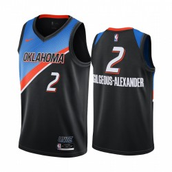 Shai Gilgeous-Alexander Oklahoma City Thunder 2020-21 Schwarz City Edition Trikot Player