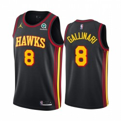 Danilo Gallinari Atlanta Hawks 2020-21 Schwarz Erklärung Trikot 2020 Trade