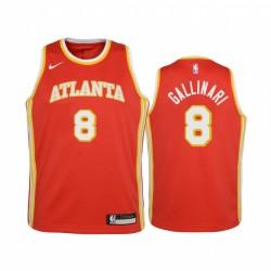 Atlanta Hawks Danilo Gallinari 2020-21 Symbol Rot Jugend Trikot & 8
