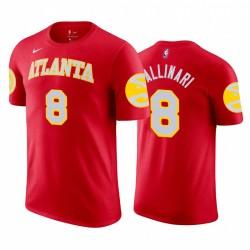 Danilo Gallinari 2020-21 Hawks & 8 Icon Rot T-Shirt