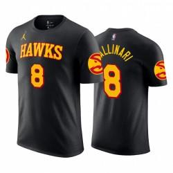 Danilo Gallinari 2020-21 Hawks & 8 Erklärung Schwarz T-Shirt Jordan Marke