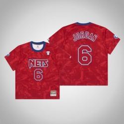 Nets DeAndre Jordan & 6 AAPE x Mitchell Ness Swingman Holz Classics Jersey Red