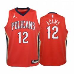 Steven Adams New Orleans Pelicans 2020-21 Anweisung Jugend Trikot - Rot