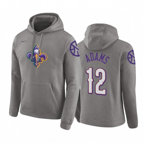 Steven Adams New Orleans Pelicans City Hoodie Heather Grey 2020 Trade
