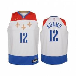 Steven Adams New Orleans Pelikane 2020-21 Stadt Jugend Trikot - Weiß