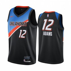 Steven Adams Oklahoma City Thunder 2020-21 Schwarz City Edition Trikot Player