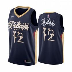 Steven Adams New Orleans Pelicans 2020 Christmas Night Navy Trikot Festliche Sonderausgabe