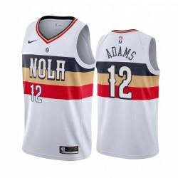 Steven Adams New Orleans Pelicans 2020-21 Weiß verdient Trikot 2020 Trade