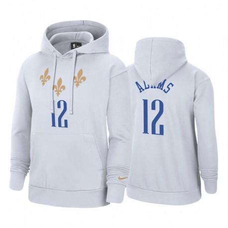 Steven Adams New Orleans Pelicans 2020-21 City Edition Hoodie Weiß Pullover