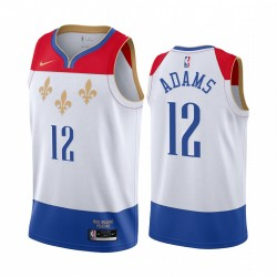 Steven Adams New Orleans Pelicans 2020-21 Weiß City Trikot 2020 Trade