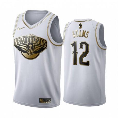 Steven Adams New Orleans Pelicans 2020-21 WEIß Golden Edition Trikot 2020 Trade