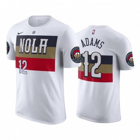 Steven Adams New Orleans Pelicans verdiente WEIß 2020 Trade T-Shirt