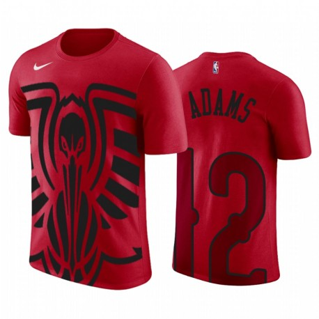 Steven Adams New Orleans Pelicans Übergroße Logo Rot 2020 Trade T-Shirt