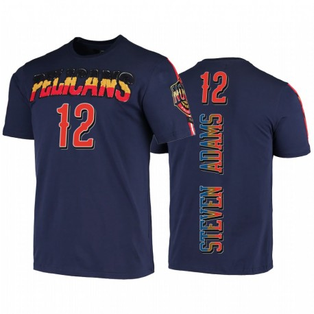 Steven Adams New Orleans Pelicans Spieler Graphic Navy 2020 Trade T-Shirt