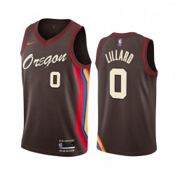 Damian Lillard Portland Trail Blazer Chocolate City Edition Oregon 2020-21 Trikot