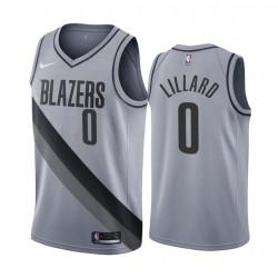 2020-21 Portland Trail Blazer Damian Lilard Verdienste Ausgabe Grau & 0 Trikot
