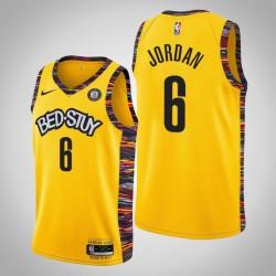 2019-20 Nets DeAndre Jordan & 6 City Jersey Gelb