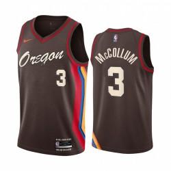 C.J. McCollum Portland Trail Blazer Chocolate City Edition Oregon 2020-21 Trikot