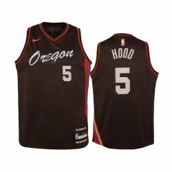 Rodney Hood Portland Trail Blazer 2020-21 Stadtausgabe Jugend Trikot - Schwarz