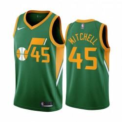 2020-21 Utah Jazz Donovan Mitchell Verdiente Ausgabe Grün & 45 Trikot