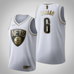 Brooklyn Nets DeAndre Jordan & 6 Golden Edition Weiß Jersey