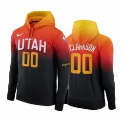 Jordan Clarkson Utah Jazz 2020-21 Stadt Hoodie Schwarz Orange Pullover