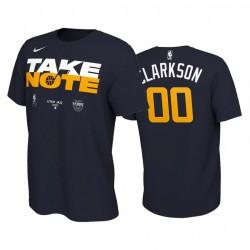 Jordan Clarkson Utah Jazz 2020 NBA Playoffs gebundenes T-Shirt Navy Mantr Power Nase