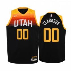 Utah Jazz Jordan Clarkson 2020-21 Stadt Schwarz Jugend Trikot -