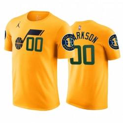 Jordan CLARKSON 2020-21 Jazz & 00 Erklärung T-Shirt Gelb