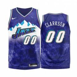 Utah Jazz Jordan Clarkson & 00 Purple 2020 Mode Edition Trikot