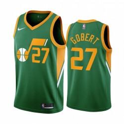 2020-21 Utah Jazz Rudy Gobert Verdienter Ausgabe Grün & 27 Trikot
