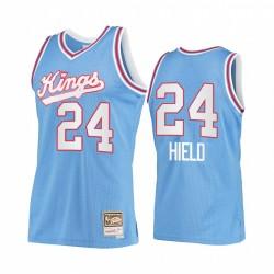 Buddy Hield & 24 Sacramento Kings Blue Hardwood Classics Trikot