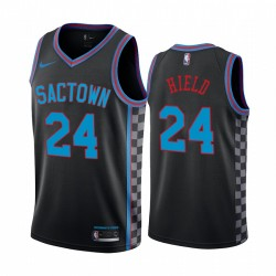 Buddy Hield Sacramento Kings Schwarz City Edition Sactown 2020-21 Trikot