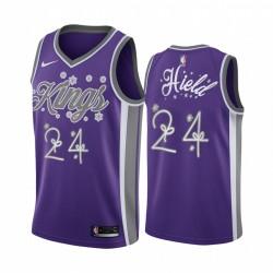 Buddy Hield Sacramento Kings 2020 Weihnachtsnacht Purple Trikot Festliche Sonderausgabe