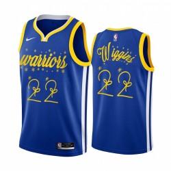 Andrew Wiggins Golden State Warriors 2020 Weihnachtsnacht Royal Trikot Festliche Sonderausgabe