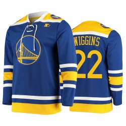 Andrew Wiggins & 22 Golden State Warriors Hockey Mode Trikot Pointman Royal
