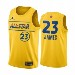 2021 All-Star & 23 LeBron James Gold Western Conference Trikot Lakers