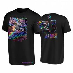 2021 All-Star Lebron James Hbcu Spirit Irisierende holographische Schwarz-T-Shirt & 23